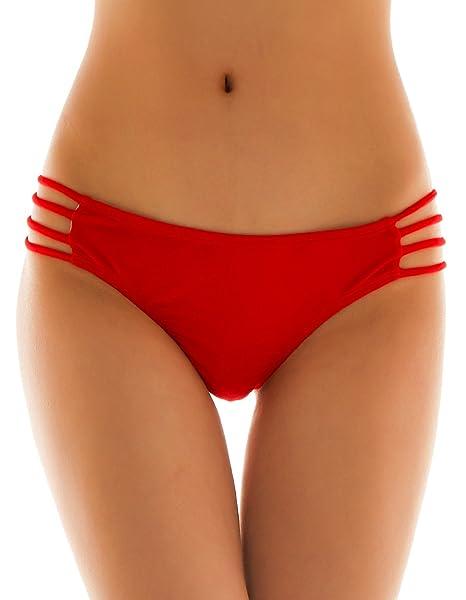 Bañom Traje Shekini Tanga Brasileños Mujer Braguitas Braga rojo Bikini De 34R5LjqScA