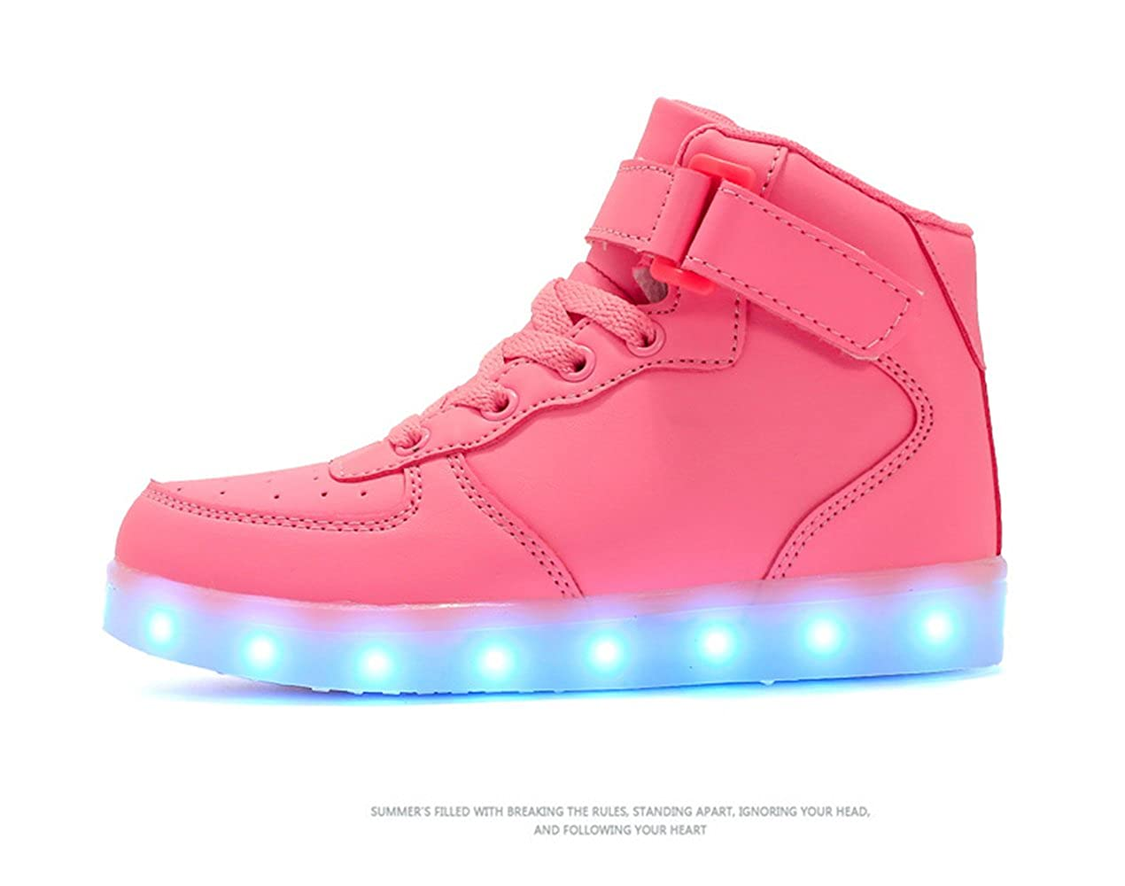 xiaoyang High Top USB Charging LED Shoes Flashing Fashion Sneakers for Kids Boots Girls Boys