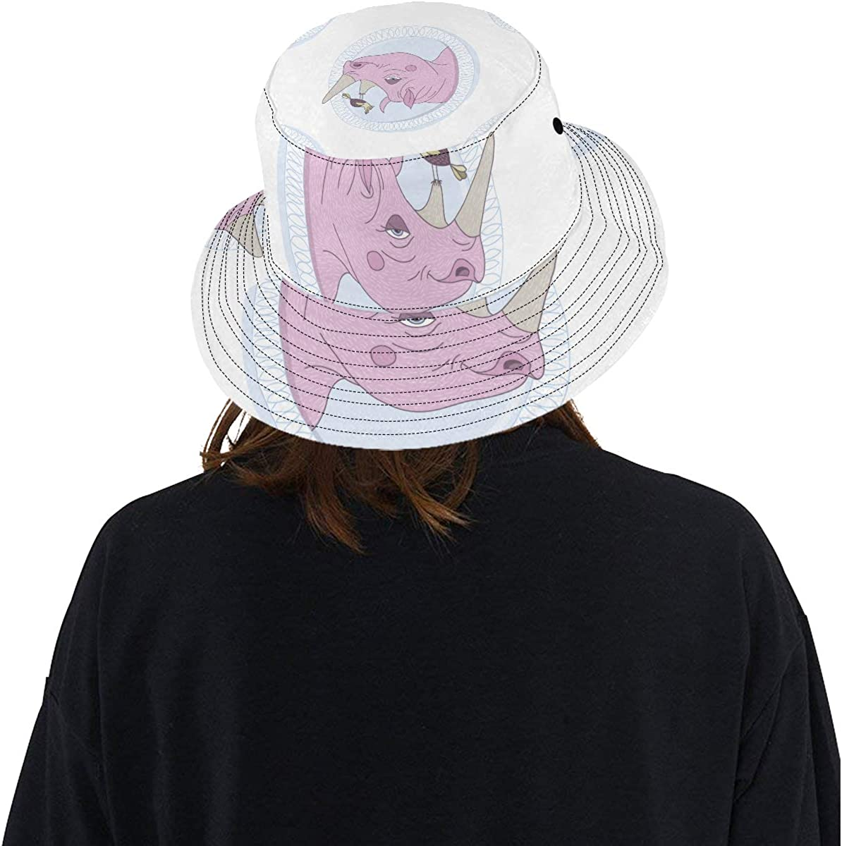 Strong Muscle Rhino Summer Unisex Fishing Sun Top Bucket Hats for Kid Teens Women and Men with Packable Fisherman Cap for Outdoor Baseball Sport Picnic