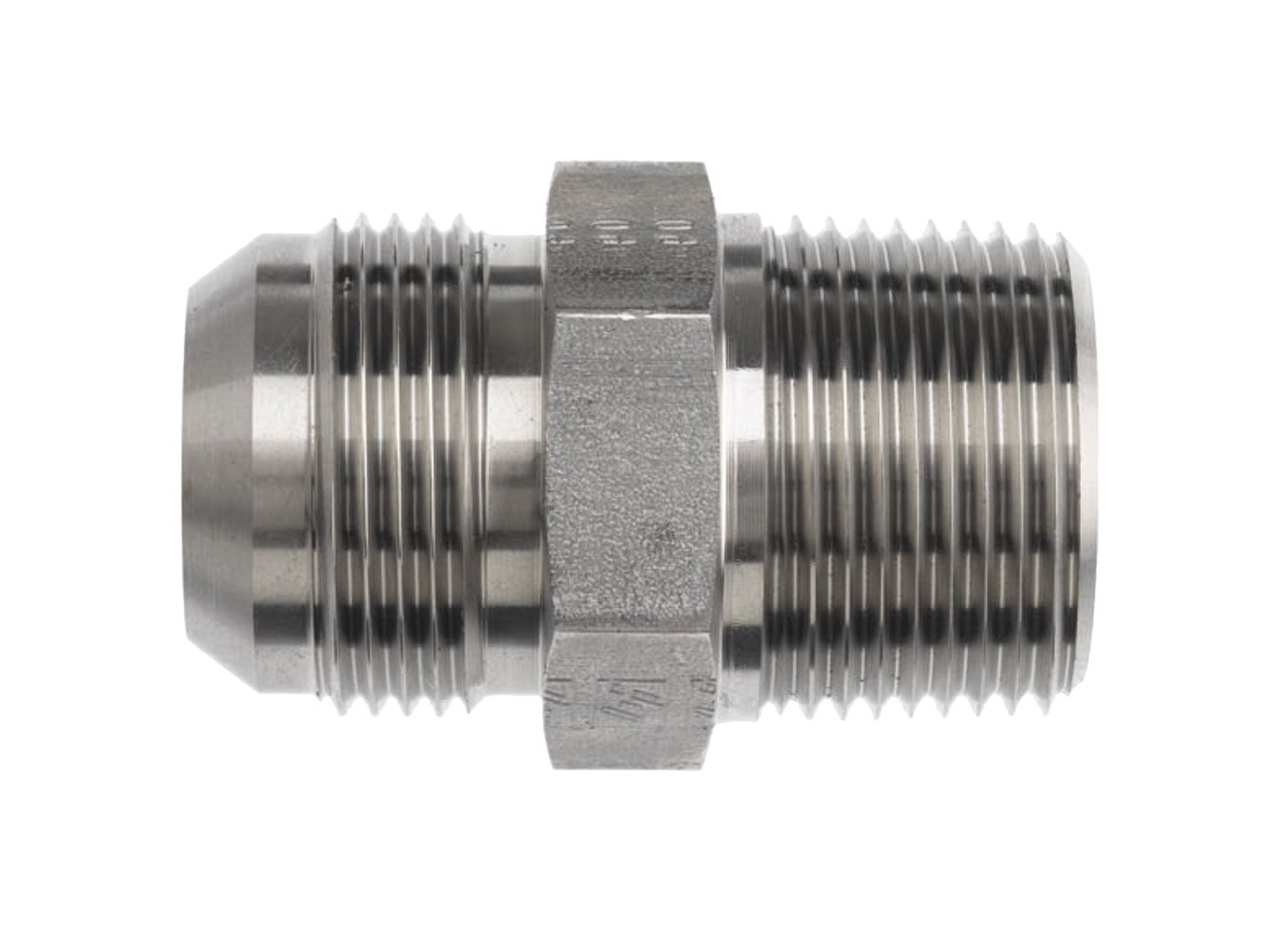 16MJ-12MP Adapter Brennan 2404-16-12-SS Stainless Steel JIC Tube Fitting 1 Tube OD x 3//4-14 NPTF Male
