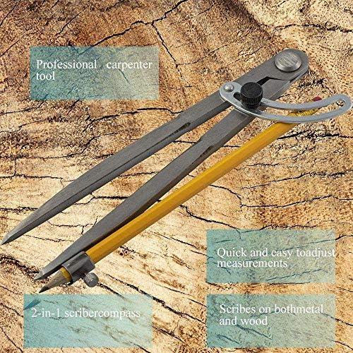 Professioneller Holzbearbeitungs Kompass Kompass Zeichenwerkzeug Fl/ügeln Und Stifthaltern 8 Zoll Ideal Gro/ßen Kompass Ideal Zum Zeichnen Zeichnen Holzbearbeitung Bleistift Kompass
