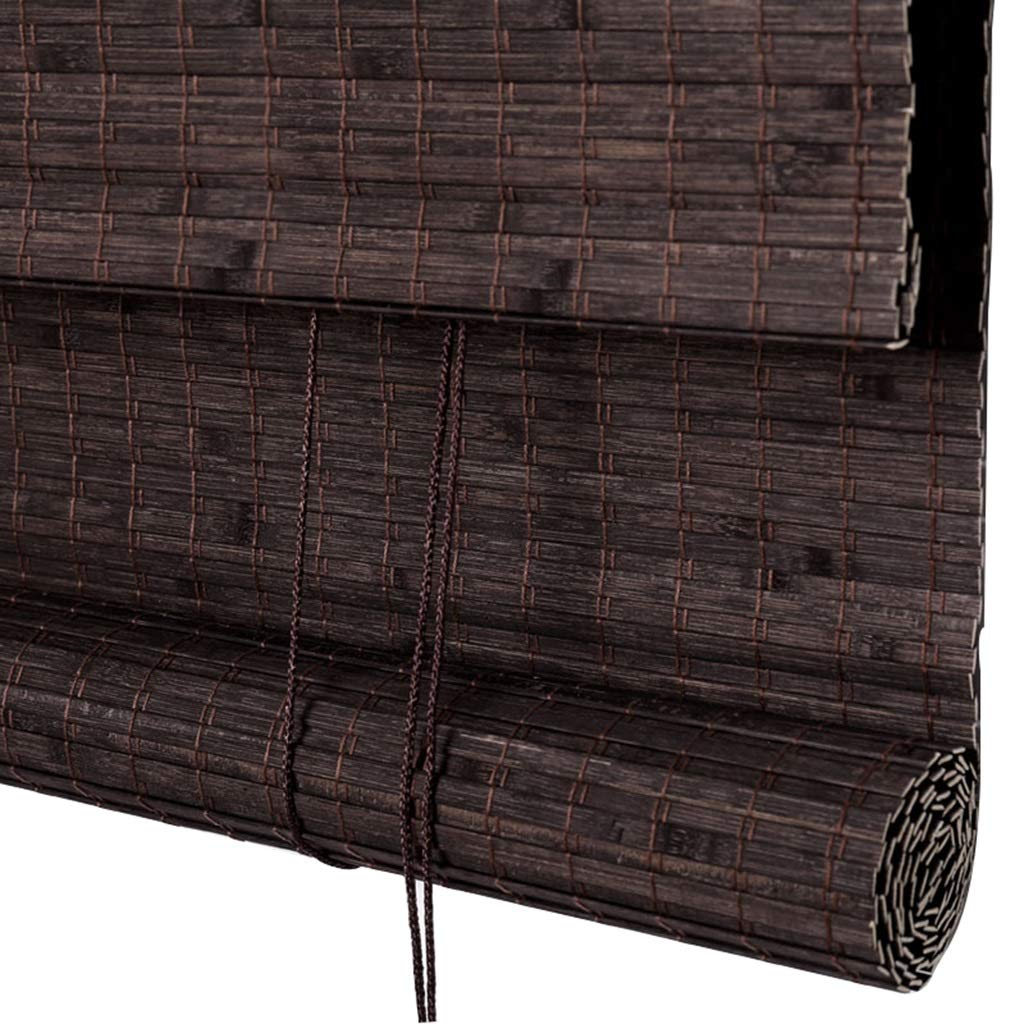 ローラーブラインド竹軽量/竹製カーテン/サイドプル付き木製バルコニー、ティーハウス、オフィスに最適/ 16サイズあり (色 : B, サイズ さいず : 80x180cm) 80x180cm B B07Q9QPW2R