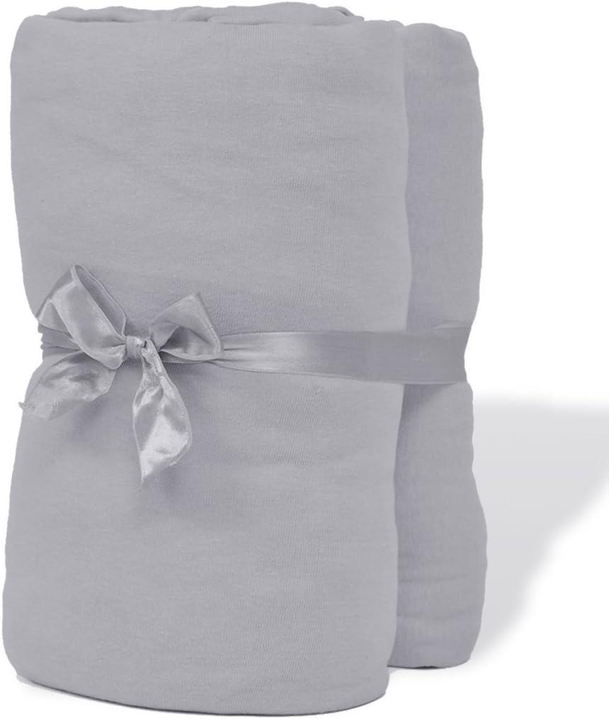 festnight Lor de 2 sábana bajera ajustable (algodón, 150 gsm 120 x ...