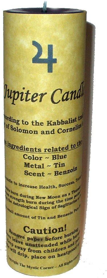 Blue The Mystic Corner Jupiter Candle