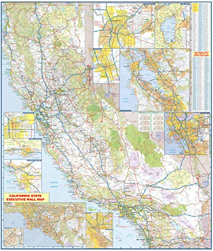 - 36x42 California State Official Executive Laminated Wall Map