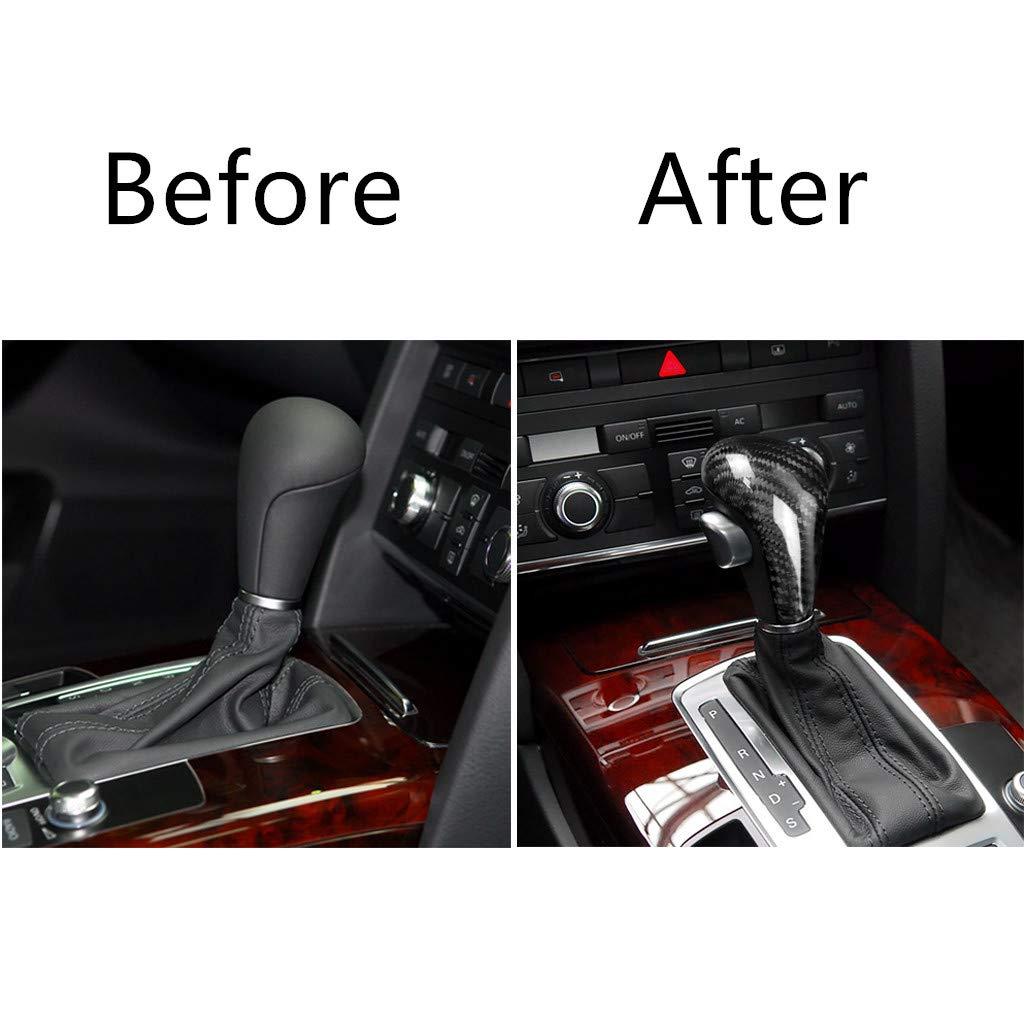 2012 // A6 2005 per Audi A4 2009 2012 WonVon Copertura per pomello del Cambio in Fibra di Carbonio 2011 // Q5 2009 per Interno Auto