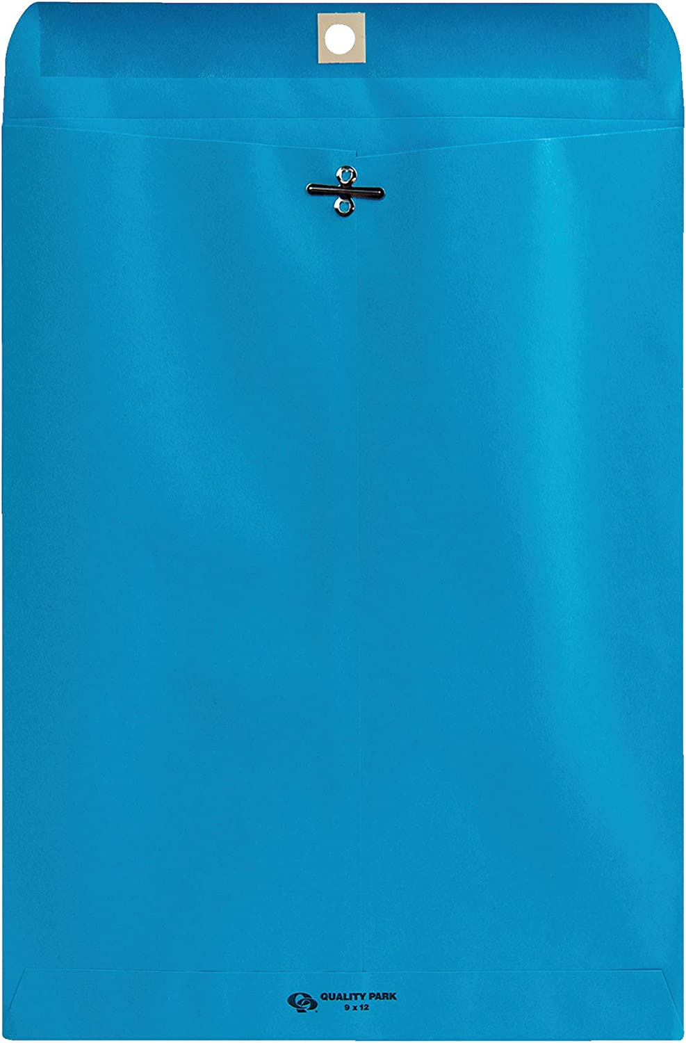 Quality Park Clasp Envelopes, 9 x 12 inches, Blue, Pack of 10 (38737) : Office Products