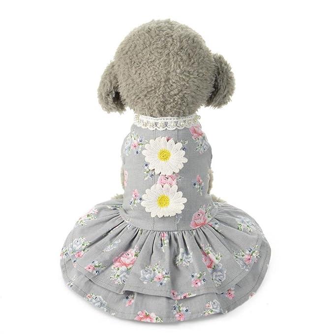 Amazon.com: Kimanli - Ropa para mascotas, diseño de tutú con ...
