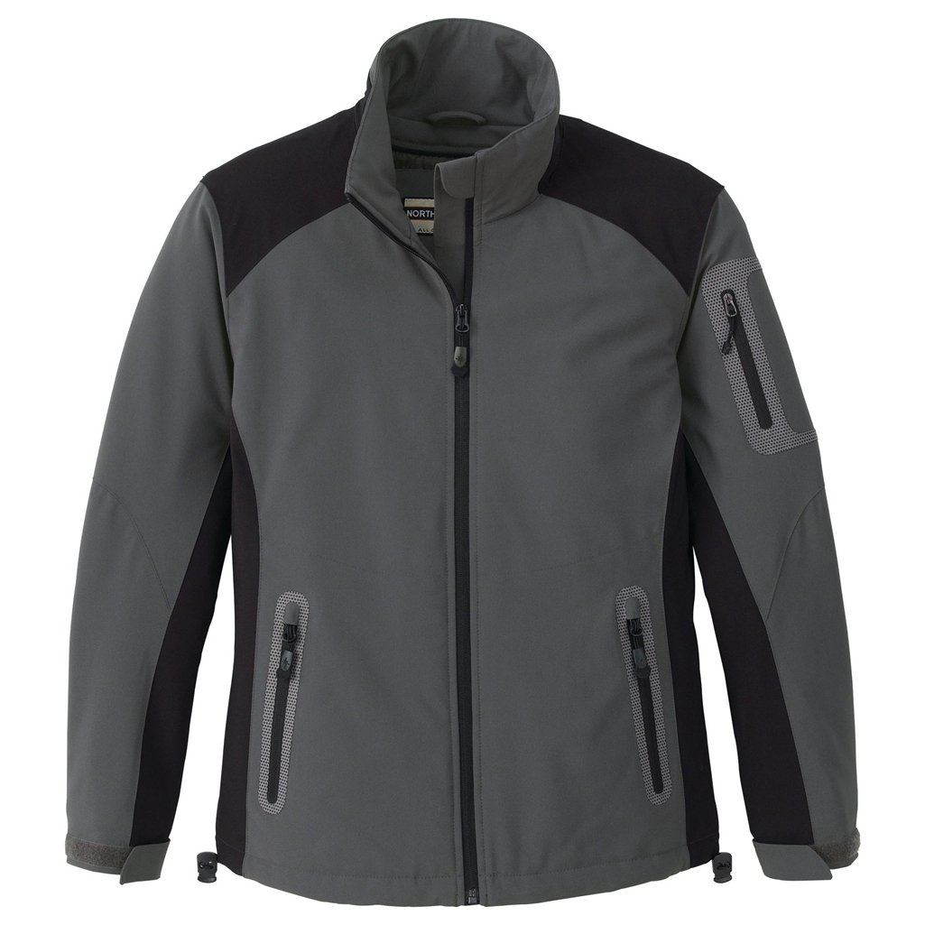 Ash City Ladies Insulated Performance Stretch Jacket (Large, Fossle Grey/Black) by Ash City (Image #1)
