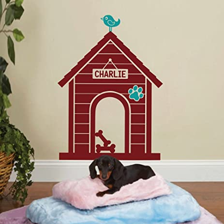 Amazoncom MairGwall Dog House Wall Decal Personalized Name Sign - Custom vinyl wall decals dogs
