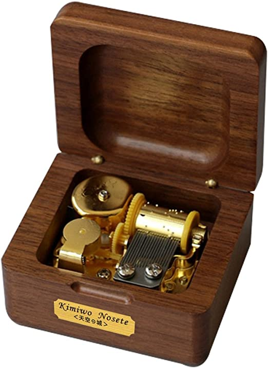 youtang caja de música, MINI tamaño madera creativa 18-note Wind ...