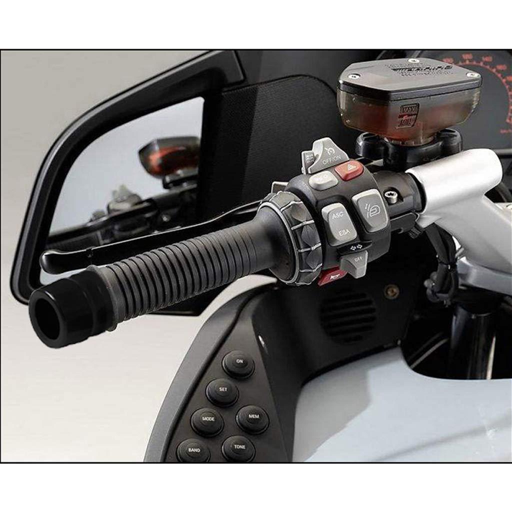 H HILABEE 25 28mm Universal Motorrad Lenkergriffe Mountain Bike Handgriffe Gummi Open End Lenker Griffe f/ür BMW F650GS F800GS R1200GS RT1200