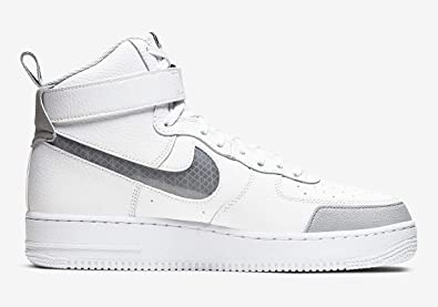 Scarpa nike air force 1 2 ragazzi bianco nike grigio pelle