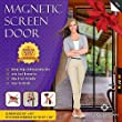 Magnetic Screen Door, Mesh Curtain - Mosquito Net Keeps Bugs Out, Lets Cool Breeze In - Premium Quality - Toddler And Pet Friendly - Fits Doors Up To 34-Inch-by-82-Inch MAX