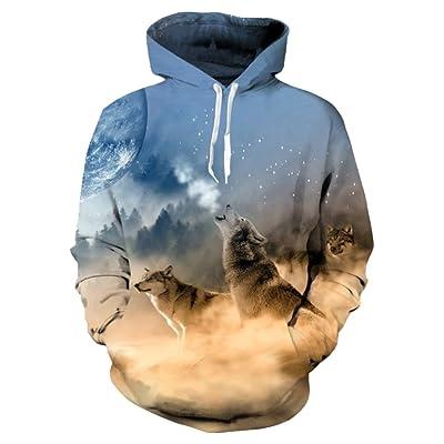 9Yourtime Hipster Wolf Hoodie Print 3D Unisex Designs Harajuku Hooded Sweatshirt Streetwear Hoody