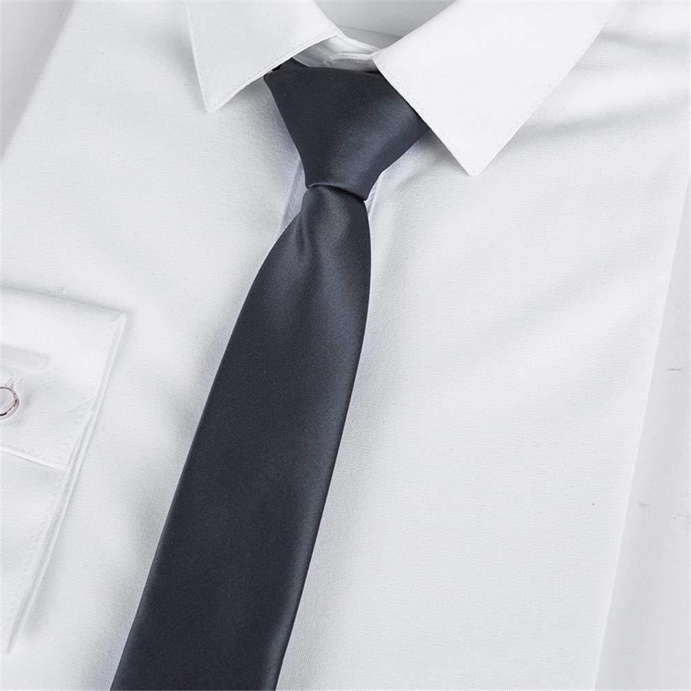 WUNDEPYTIE Corbata Negra De 46 * 5 Cm con Cremallera, para Hombre ...