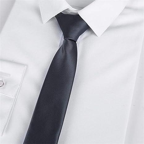 Wangwang454 Corbata Negra De 46 * 5 Cm con Cremallera, para Hombre ...