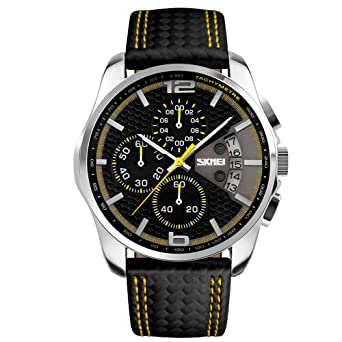 af9ba3c34 Sports Watches for Men,SKMEI Chronograph Auto Date Casual Quartz Watch  Men,Water Proof