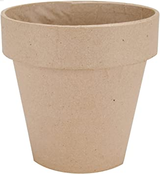 Dcc paper mache flower pot 5 inch amazon kitchen home mightylinksfo Image collections