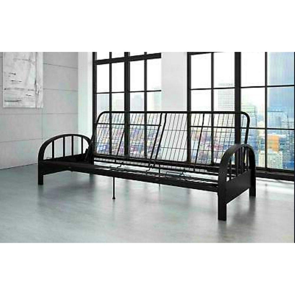 BS Metal Daybed Frame Full 3-in-1 Sofa Lounger Contemporary Metal Adjustable Futon Sleeper Frame with Arms Guest Home Living Room Bedroom Kids Bedroom Furniture Dorm Black & eBook by BADA Shop by BS