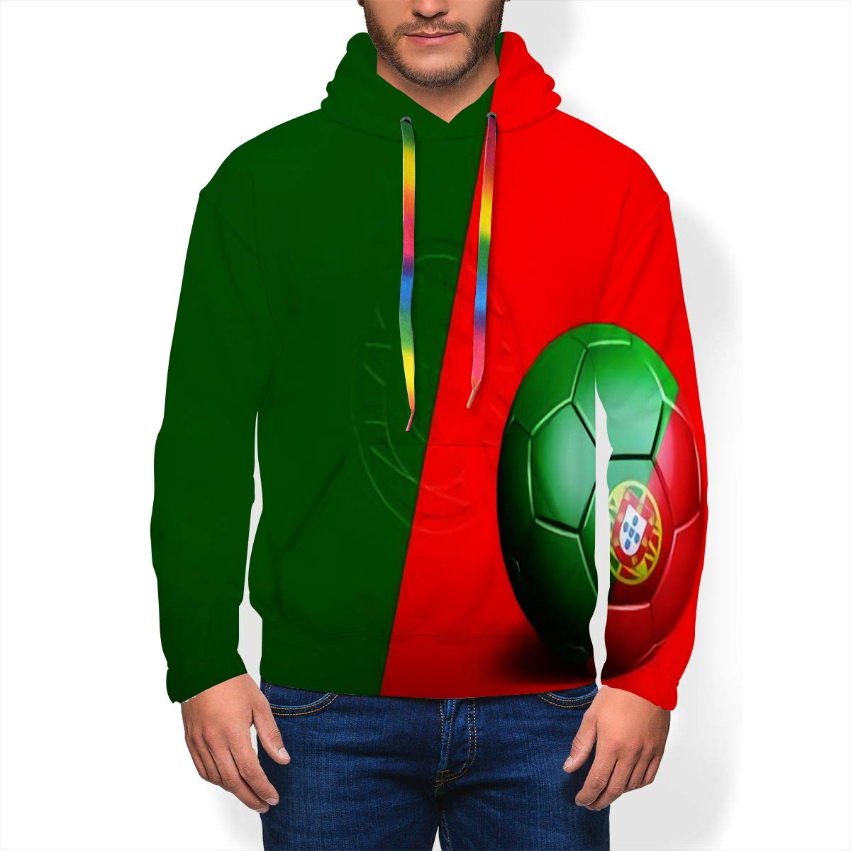 Randell Hoodie Sweatshirt Athletic Roots Rock Reggae Quote Rastafarian Flag Grunge Pullover Sweatshirt Pockets