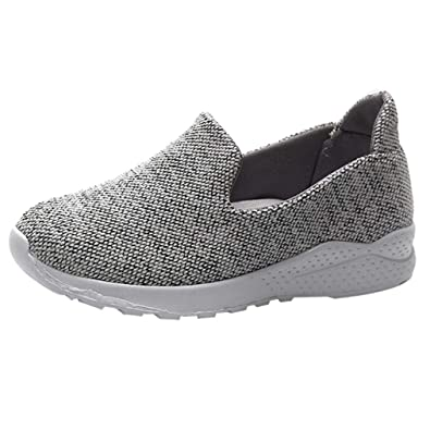 Gray Slip Canvas With Casual Pink Non Ohq Flats Women's Shoes Black ZBq7wzx1