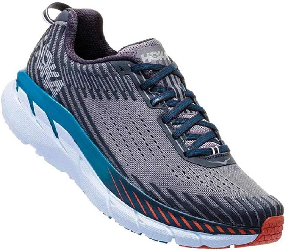 Hoka One One Clifton 5 - Zapatillas de running para hombre (45 1/3 EU, Frost Gray/Ebony): Amazon.es: Zapatos y complementos