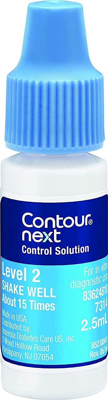 CONTOUR NEXT Control Solution for Glucose Test Meter, Level 2, 2.5mL Bottle