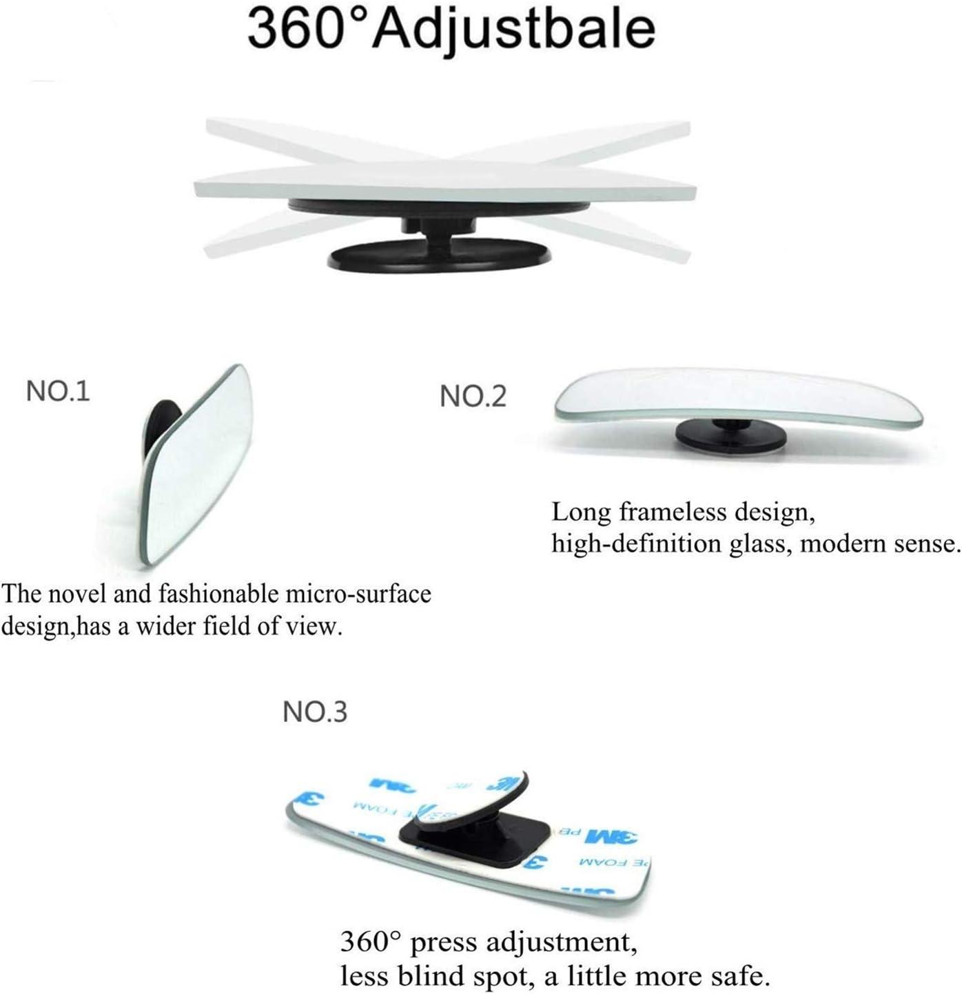 Blind Spot Espejo Adhesivo 360/° Ajustable Gran Angular Sin Aros Universal HD Espejo Retrovisor para Coche 4PCS//SET Espejos Retrovisores de /Ángulo Muerto para Coche