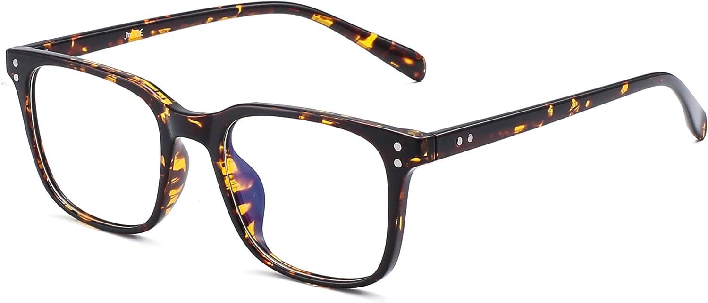 Gafas de Vista Bloqueo Luz Azul Computadora Ordenador Anti Rayo Azul Filtro Para Mujer Hombre Anteojos Cuadrado Reduce Fatiga Visual Tortuga