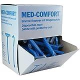 Med-Confort - Maquinillas de afeitar desechables (100 unidades, cuchilla doble)
