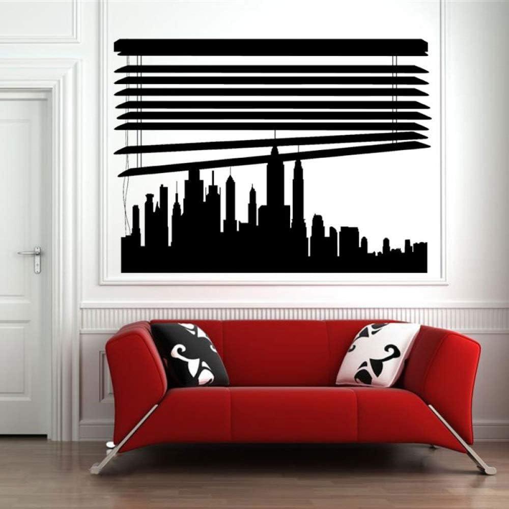 YuanMinglu Skyline Personalizado bajo persianas Ciudad Pegatina de ...