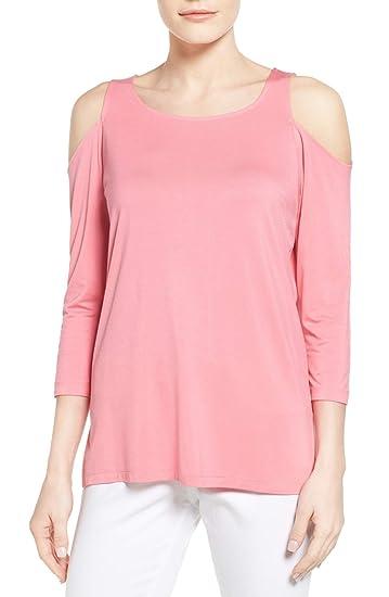 f9439ca87ea53 NYDJ Women s Cold Shoulder Tee Black at Amazon Women s Clothing store