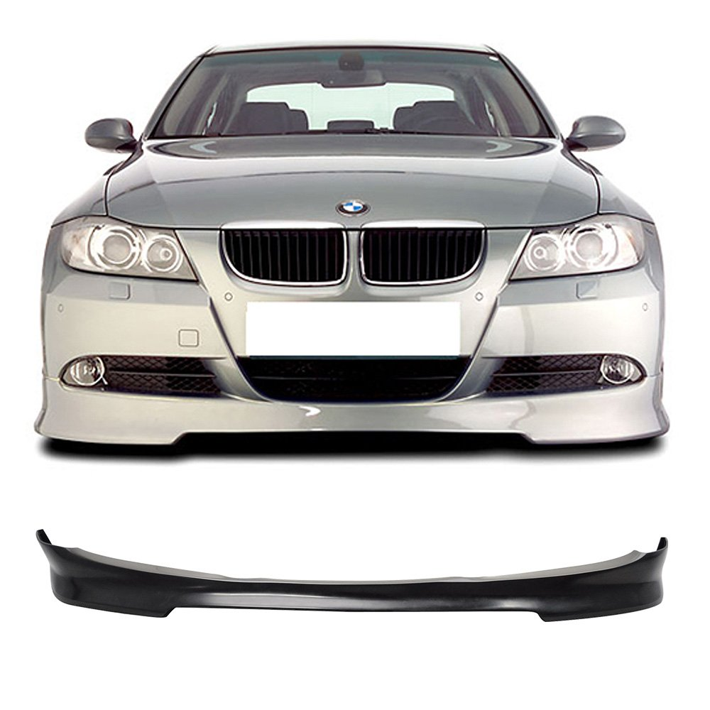 Front Bumper Lip Spoiler Fits 2009-2012 BMW E90 | C Style Unpainted PU Air Dam Chin Protector Front Bumper Lip by IKON MOTORSPORTS | 2010