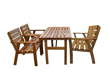 Amazonde Unbekannt Sitzgruppe Holz 4 Tlg Kynast Gartenmöbel Stuhl