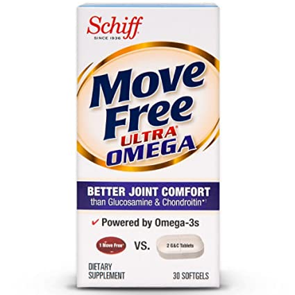 Amazon.com: Move Free Ultra Omega, 30 softgels - Joint Health Supplement with Omega-3 Krill Oil and Hyaluronic Acid (Pack of 5): Health & Personal Care