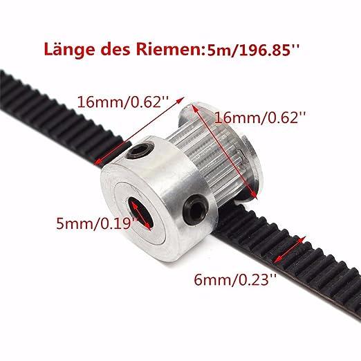 Gesh 5 St/ück Synchronriemen GT2 Gummi Zahnriemen M1,5 x 70 x 9,5 mm Cj0618 SIEG C2 C3 Drehbankteile