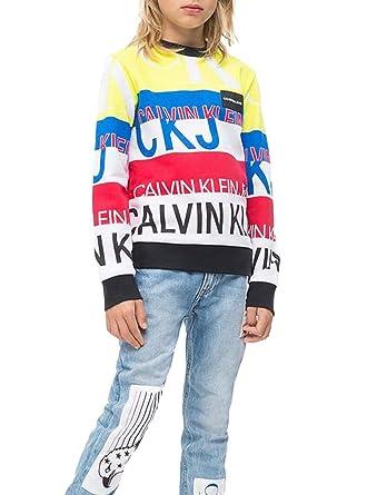 Calvin Klein IB0IB00117 Logo Text Print Sudadera Junior Unisex: Amazon.es: Ropa y accesorios