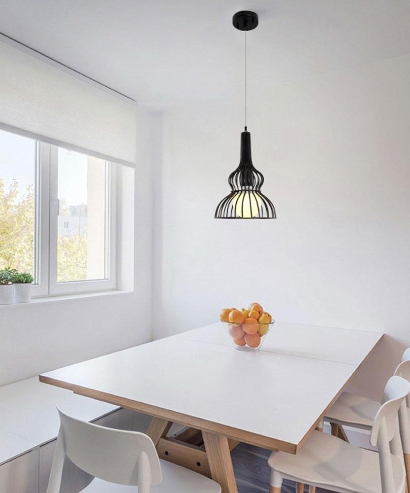 Rétro Loft Cage Lampe pendentife E27 40W Ampoules Pendentif Plafonniers Décoration pour Bar Escalier Balcon Art éclairage Appareil [classe d'énergie A ++]