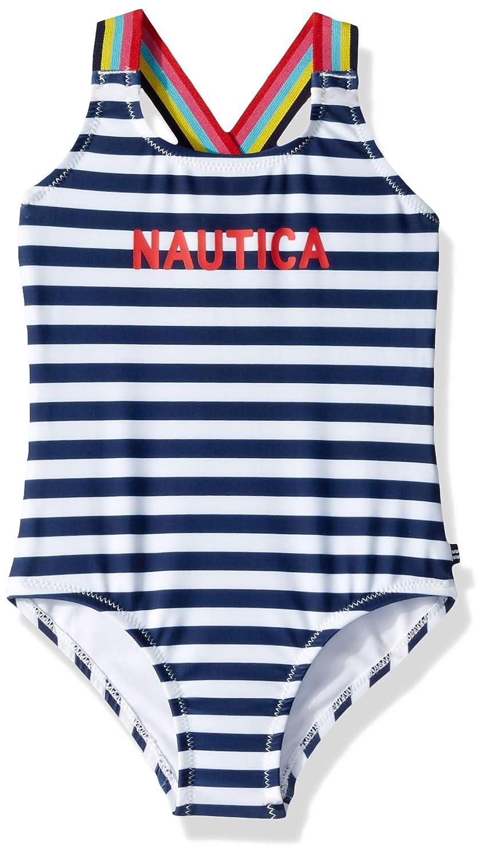 4T Nautica Toddler Girls One Piece Swimsuit deep Navy