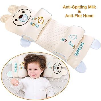 c62578ecc803 Baby Head Shaping Pillow, Maveek Anti-Flat Head & Anti-Rollover Adjustable  Toddler