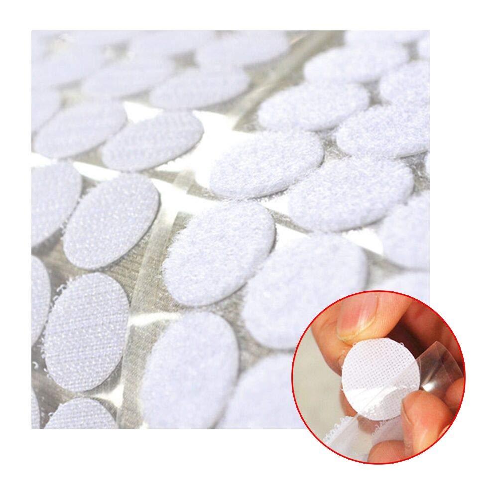 300 coppie di 20 mm di diametro bianco velcro autoadesivo velcro adesivo 600 pezzi Sticky Back Coins Hook /& Loop Nastro autoadesivo a pois