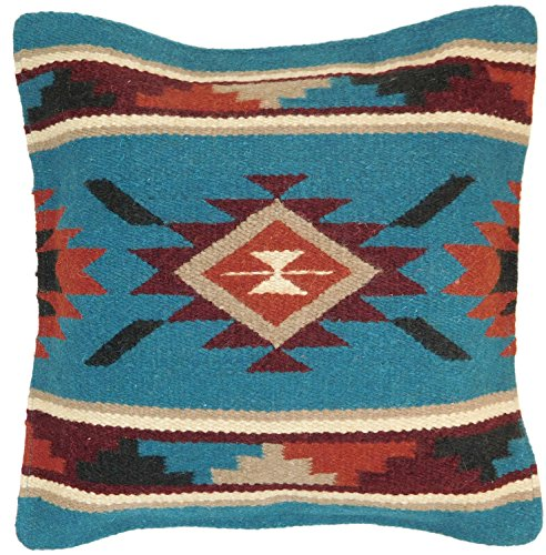 El Paso Designs Throw Pillow Covers, 18 X 18, Hand Woven in Southwest and Native American Styles. Hand Crafted Western Decorative Pillow Cases in Wool. (Tortoise 10)