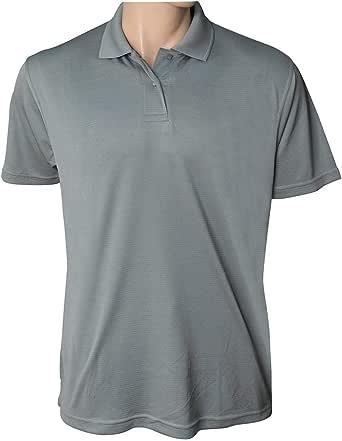 Grey Polyester Shirt Neck Polo For Men