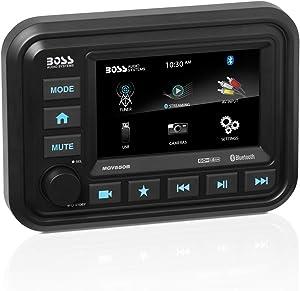 BOSS Audio Systems MGV550B Marine Gauge Receiver - Weatherproof, 5 Inch Touchscreen, Built-in Amplifier, Bluetooth, Digital Media MP3 Player, No CD Player, USB Port, AM/FM Radio