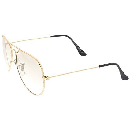 e84382b599b5f sunglassLA - Retro Small Double Nose Bridge Slim Temple Clear Lens Aviator  Eyeglasses 57mm  Amazon.co.uk  Clothing