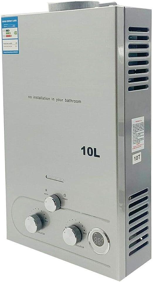 TABODD 10L 20KW Calentador de agua portátil LPG Kit de ...