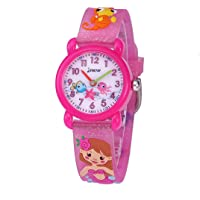 CakCity Kids Watches 3D Cute Cartoon Waterproof Silicone Children Toddler Wrist Watch Time Teacher Birthday 3-10 Year…