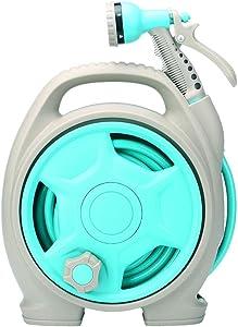 FQMAO Enhanced Leak Proof Garden Hose, Full Nozzle Expandable Water Hose, Adjustable Flexible Gardening Spray Water Pipe,Blue