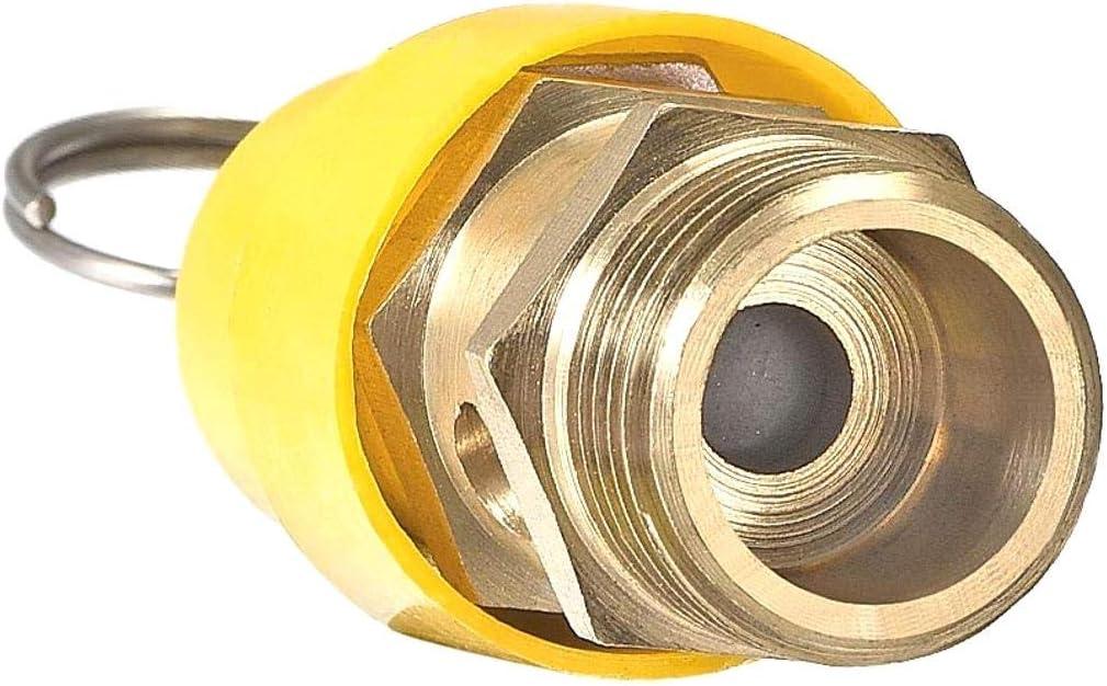 Insmart Pression de refoulement de 115 LB//po/² avec soupape de d/écharge taraud/ée /à Pression de Piston taraud/ée Rouge Pression de compresseur dair Rouge G 1//2NPT